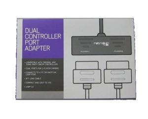 Snes joypad Dual Port adapter til PC USB (Retrolink) (Ny vare)