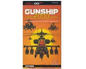 Gunship 2000 (CD32) m. kasse med manual