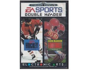 Ea Sport Double Header Hockey/Football m. kasse og manual (slidt)