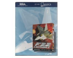 F22 Lightning II m. kasse (slidt) og manual (classics) (CD-Rom) m. joystick