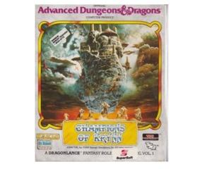 AD&D Champions of Krynn (Amiga) (1mb) m. kasse og manual (slidt)