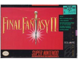 Final Fantasy II (US) m. kasse og manual