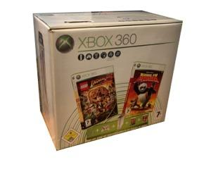 Xbox 360 Pro (60gb) (hvid) m. kasse og manual (Lego Indiana Jones/Kung Fu Panda bundle)