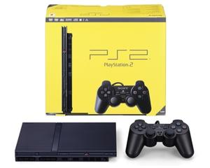 PS2 slim incl. 1 pad m. kasse og manual (regionsfri)