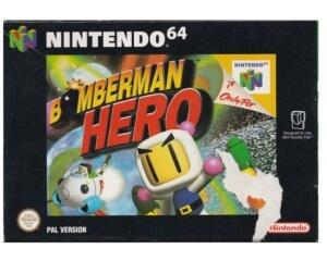 Bomberman Hero m. kasse (slidt) og manual (N64)