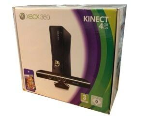 Xbox 360 Slimline (4Gb/250gb) Kinect Bundle m. kasse og manual