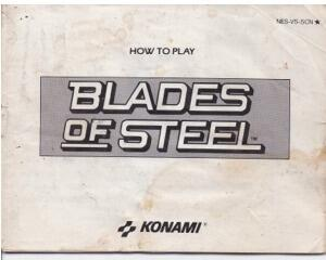 Blades of Steel (slidt) (SCN) (Nes manual)