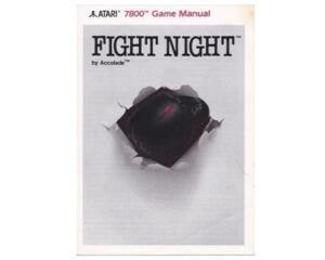 Fight Night (slidt) (Atari 7800 manual)