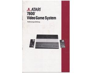 Atari 7800 Video Game System (tysk) (Atari 7800 manual)