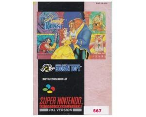 Beauty and the Beast (scn) (slidt) (Snes manual)