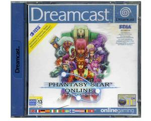 Phantasy Star Online (incl Sonic 2 demo) m. kasse og manual (Dreamcast)