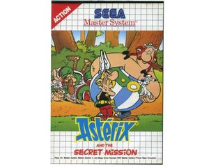 Asterix and the Secret Mission m. kasse og manual