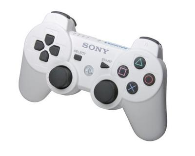PS3 Controller 6 Axis trådløs / Dualshock (hvid)