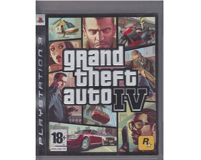 Grand Theft Auto IV (GTA 4) u. manual (PS3)