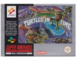 Turtles in Time (noe) m. kasse og manual (SNES)