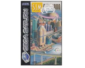Sim City 2000 m. kasse og manual (Saturn)