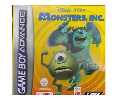 Monsters INC m. kasse (slidt) og manual (GBA)