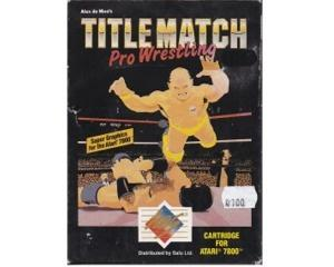 Title Match : Pro Wrestling m. kasse og manual (Atari 7800)