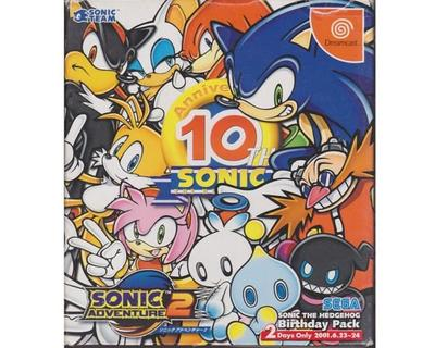 Sonic the Hedgehog Birthday Pack (jap) m. kasse og manual (uden spil)
