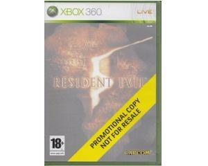 Resident Evil 5 (promotional copy) u. manual (Xbox 360)