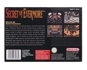 Secret of Evermore (gps) m. kasse og manual incl kort