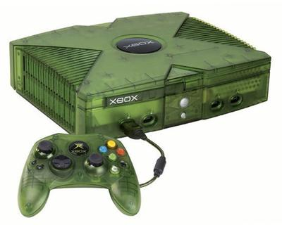 Xbox (crystal green) m. 4 pad (Limited Edition)