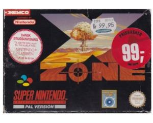 X-Zone (scn) m. kasse (slidt) og manual (SNES)