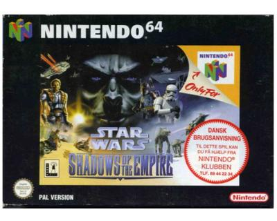 Star Wars : Shadows of the Empire m. kasse og manual