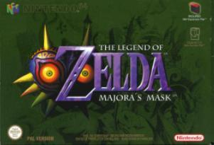 Zelda, The Legend of : Majora's Mask m. kasse og manual