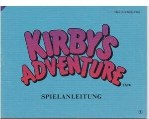 Kirby's Adventure (NOE) (Nes manual)