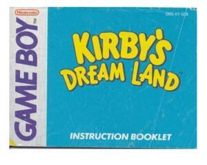 Kirby's Dream Land (SCN) (slidt) (GameBoy manual)