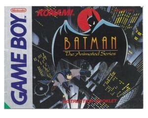 Batman : The Animated Series (UKV) (GameBoy manual)