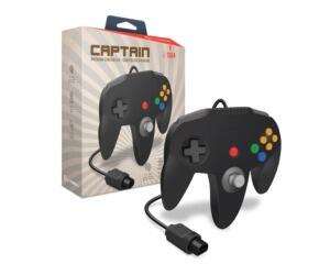 "N64 joypad ""Captain"" (sort) (uorig) (Ny vare)"