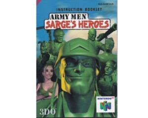 Army Men : Sarge's Heroes (eur) (N64 manual)