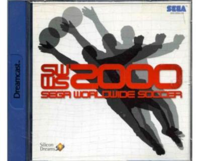 Sega Worldwide Soccer 2000 m. kasse og manual (Dreamcast)