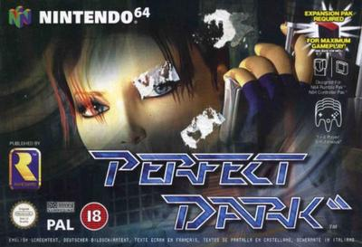 Perfect Dark m. kasse og manual