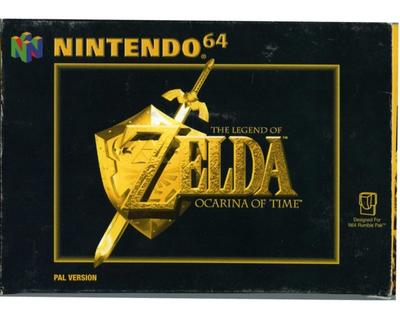 Zelda, The Legend of : Ocarina of Time m. kasse og manual (N64)