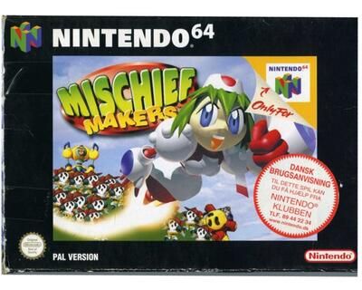 Mischief Makers m. kasse og manual (N64)
