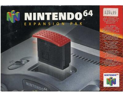 N64 expansion pak orig. m. kasse og manual