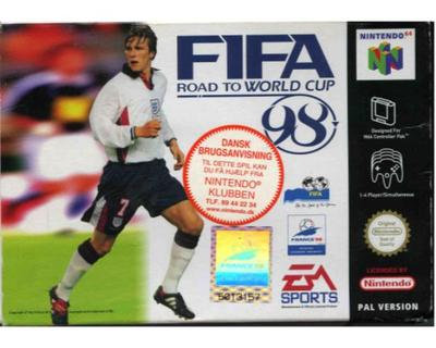 Fifa : Road to the World Cup 98 m. kasse og manual