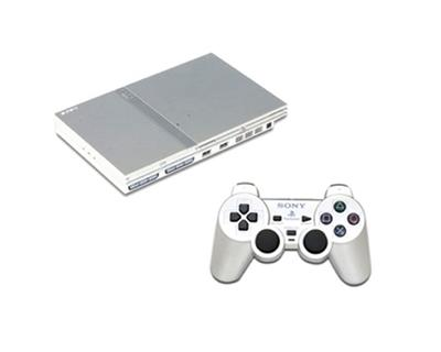PS2 silver slim incl. 1 pad