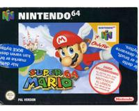 Super Mario 64 m. kasse (slidt) og manual (N64)