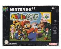 Mario Golf m. kasse (slidt) og manual (dansk kopi)  (N64)