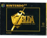 Zelda, The Legend of : Ocarina of Time m. kasse og manual
